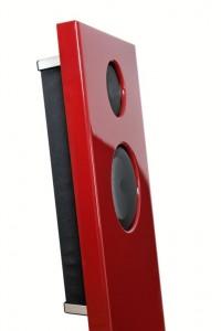 004c-JK Acoustics Prestige Air luidsprekers - donkerrood - detail - witte achtergrond