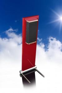 006b-JK Acoustics Prestige Air luidsprekers - donkerrood - achteraanzicht - met lucht