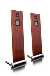 012d-JK Acoustics Prestige Air luidsprekers - mahonie - vooraanzicht - vrijgemaakt