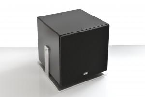 025-JK Acoustics Prestige Air subwoofer - zwart met front - witte achtergrond